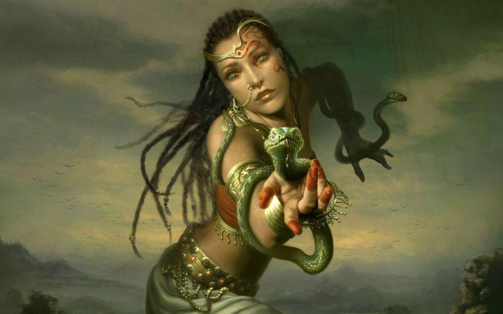 Female Godess Background