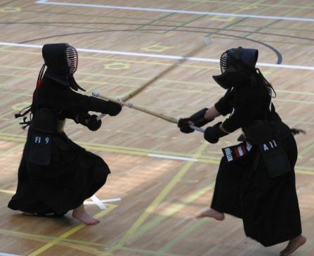 خلال مباراة للكيندو