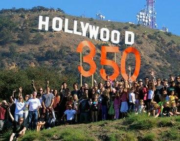 من نشاطات منظّمة 350.org البيئية، في هوليود