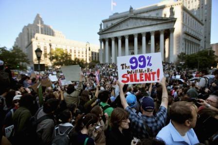 من احتجاجات احتلوا وول ستريت في الولايات المتحدة