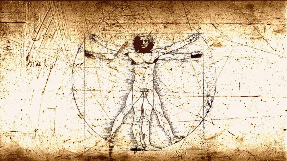 رؤية الجمال في الأشياء هو إحدى الأمور التي تميّزنا كبشر. الصورة هي إحدى الرسومات الشهيرة لدافينشي لمقاييس الرجل.