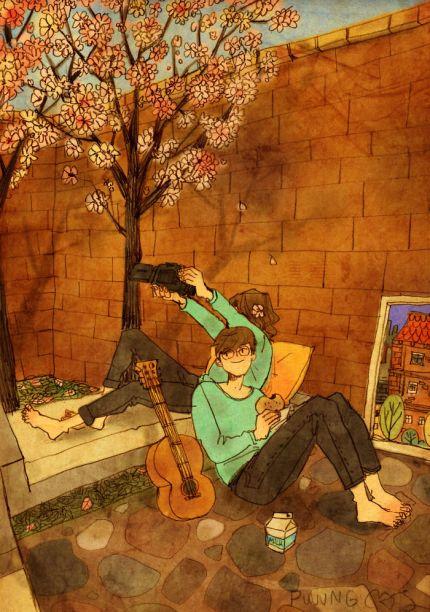 الحب في الأشياء الصغيرة -من رسومات الفنان الكوري puuung
